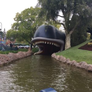 Entering the whale from Pinocchio at Storybook Land