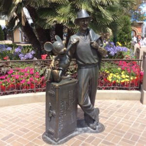 Walt and Mickey on Buena Vista St. at Disney California Adventure