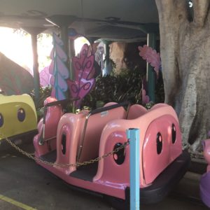 This was one of the caterpillars to ride in for the Alice in Wonderland ride.