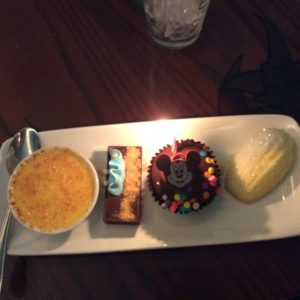 The best part of the meal. (I forgot to mention that we were celebrating my sister's birthday as well as mine and the restaurant gave us cupcakes for it.)